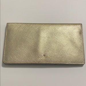 Kate Spade Gold Travel Passport Large Wallet